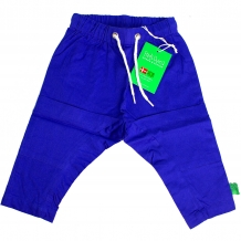 "FRED'S WORLD by GREEN COTTON Baby Baggy Stoffhose ""Twill Baggy Pants Boy"" in Blau mit Stern-Applikation (Royal Blue)"