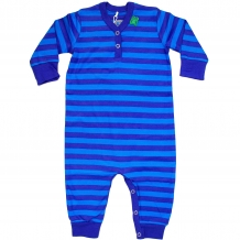 "FRED'S WORLD by GREEN COTTON Baby Overall / Jumpsuit ""Stripe Bodysuit"" in Blau / Türkis (Royal Blue)"
