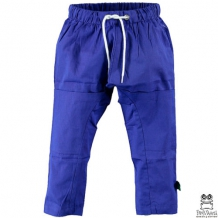 "FRED'S WORLD by GREEN COTTON Jungen Baggy Stoffhose ""Twill Baggy Pants Boy"" in Blau mit Stern-Applikation (Royal Blue)"